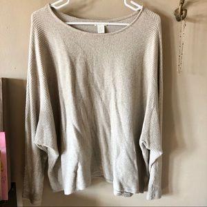 H&M Textured Dolman Sweater